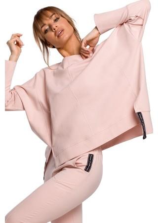 Stilīgs pulovers rozā M491-candy pink Moe Džemperi, Jakas Greetha