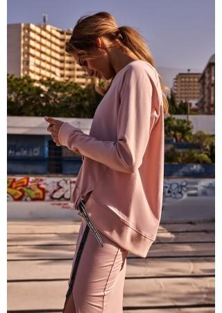 Stilīgs pulovers rozā M492-candy pink Moe Džemperi, Jakas Greetha