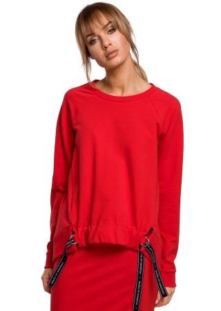 Stilīgs pulovers sarkans M492-red Moe Džemperi, Jakas Greetha