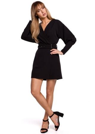Stilīga minikleita ar jostiņu melna M501-black Moe Kleitas Greetha