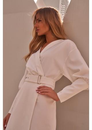 Stilīga minikleita ar jostiņu balta M501-ecru Moe Kleitas Greetha
