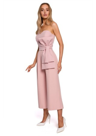 Elegants bikškostīms ar banti rozā M571-powder Moe Bikškostīmi Greetha