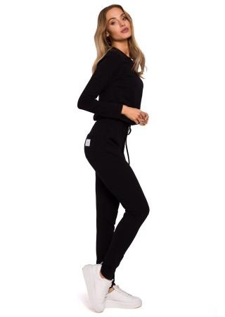 Ērts sporta kostīms melns M583-black Moe Loungewear, Streetwear Greetha