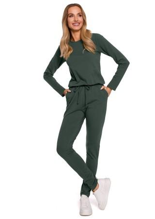 Ērts sporta kostīms zaļš M583-military  Moe Loungewear, Streetwear Greetha