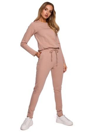 Ērts sporta kostīms pūdera rozā M583-mocca Moe Loungewear, Streetwear Greetha