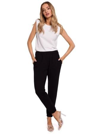 Ērtas sporta bikses melnas M585-black Moe Loungewear, Streetwear Greetha
