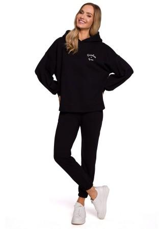Brīvā laika komplekts melns M588K-black Moe Loungewear, Streetwear Greetha