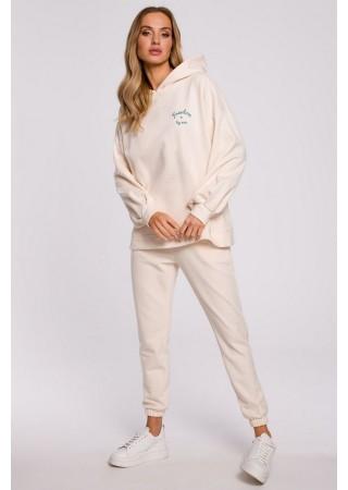 Brīvā laika komplekts balts M588K-cream Moe Loungewear, Streetwear Greetha