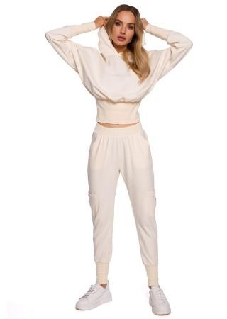 Brīvā laika komplekts balts M592K-cream Moe Loungewear, Streetwear Greetha
