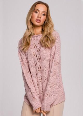 Adīts džemperis pūdera rozā M600-powder Moe Džemperi, Puloveri, Jakas Greetha