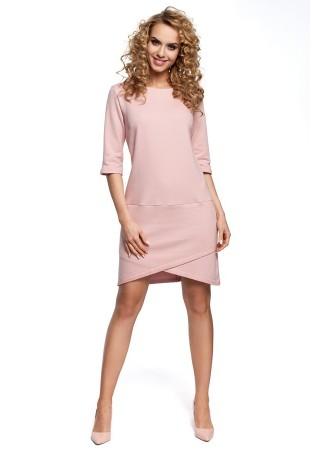 Kokvilnas kleita gaiši rozā M292-powder Moe Kleitas Greetha