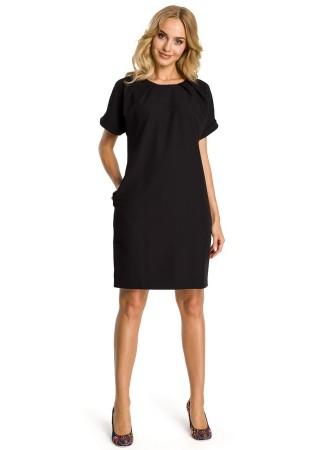 Pievilcīga kleita melna M337-black Moe Kleitas Greetha