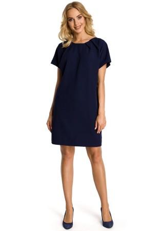 Pievilcīga kleita tumši zila M337-navy blue Moe Kleitas Greetha