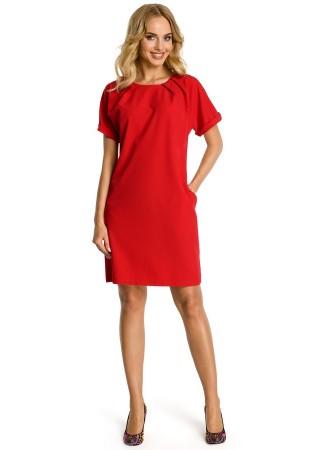 Pievilcīga kleita sarkana M337-red Moe Kleitas Greetha