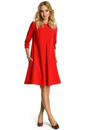 Zvanveida kleita sarkana M338-red Moe Kleitas Greetha