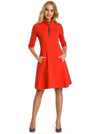 Skaista kleita ar rāvējslēdzēju sarkana M349-red Moe Kleitas Greetha