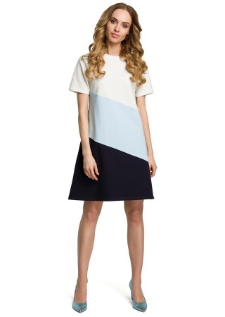 Stilīga kleita M373-light blue Moe Kleitas Greetha