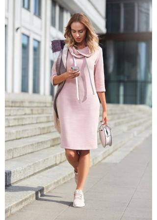 Sportiska stila kleita rozā M391-powder Moe Kleitas Greetha