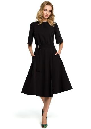 Eleganta kleita melna M396-black Moe Kleitas Greetha