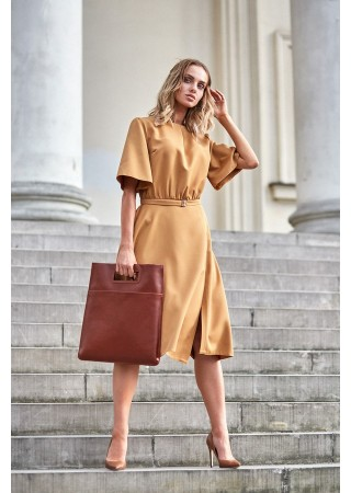 Eleganta kleita brūna M396-cinnamon Moe Kleitas Greetha