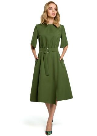 Eleganta kleita olīvzaļa M396-green Moe Kleitas Greetha