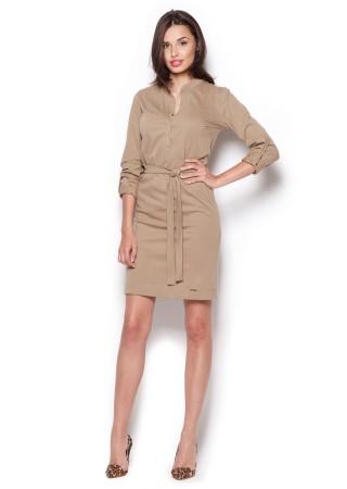 Stilīga kleita ar jostiņu bēša 44467 Figl Kleitas Greetha