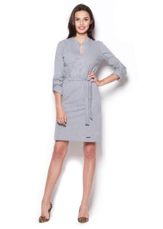 Stilīga kleita ar jostiņu pelēka 44468 Figl Kleitas Greetha