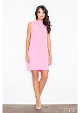 Brīva piegriezuma kleita gaiši rozā 48268 Figl Kleitas Greetha