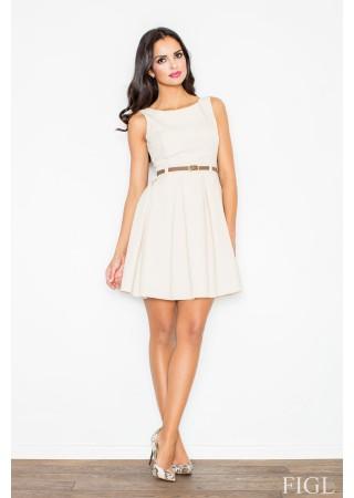 Sievišķīga kleita ecru balta 49937 Figl Kleitas Greetha