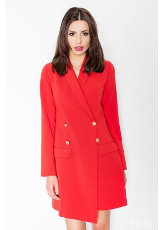 Žaketes stila kleita sarkana 51575 Figl Kleitas Greetha