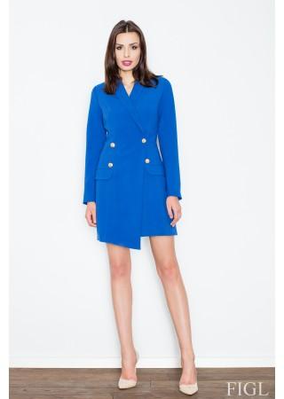 Žaketes stila kleita zila 51574 Figl Kleitas Greetha