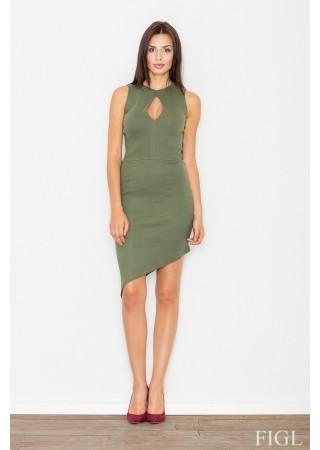 Asimetriska kleita zaļa 62655 Figl Kleitas Greetha