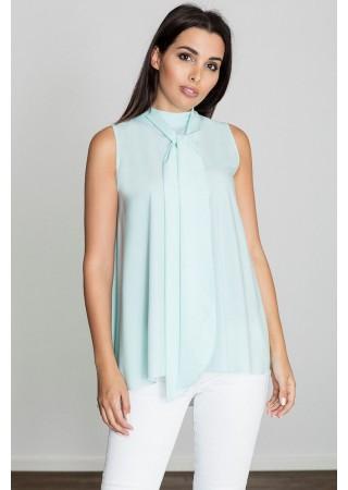 Elegants tops ar žabo zils 111145 Figl