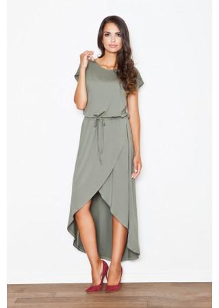 Sievišķīga kleita olīvzaļa 111529 Figl Kleitas Greetha