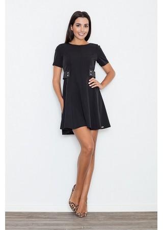 Stilīga kleita ar kniedēm melna 52592 Figl Kleitas Greetha