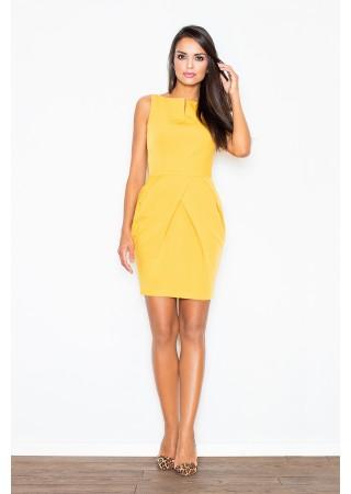 Eleganta kleita dzeltena 28080 Figl Kleitas Greetha