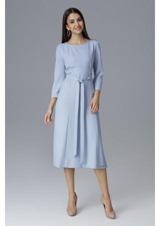 Vidēja garuma kleita zila 126022 Figl Kleitas Greetha