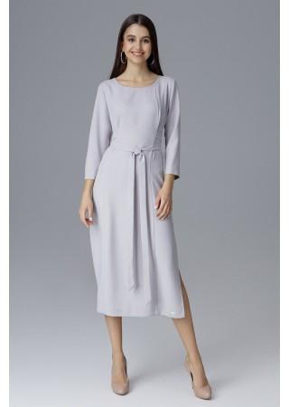 Vidēja garuma kleita pelēka 126023 Figl Kleitas Greetha