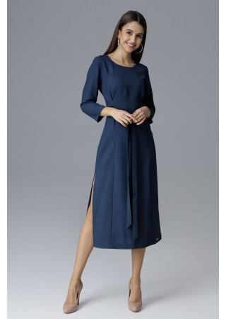 Vidēja garuma kleita tumši zila 126024 Figl Kleitas Greetha