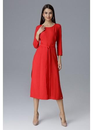 Vidēja garuma kleita sarkana 126025 Figl Kleitas Greetha