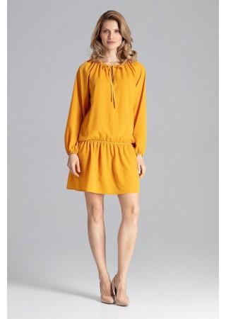 Brīva piegriezuma kleita sulīgi dzeltena 129759 Figl Kleitas Greetha