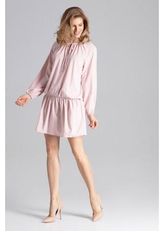 Brīva piegriezuma kleita gaiši rozā 129760 Figl Kleitas Greetha