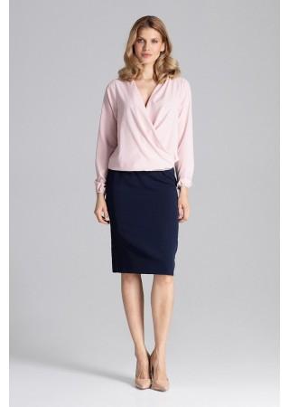 Eleganta blūze gaiši rozā 129768 Figl