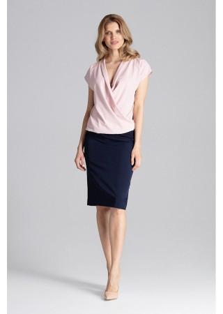 Tops ar drapējumu gaiši rozā 129816 Figl