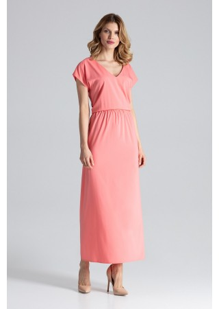 Skaista garā kleita rozā 132466 Figl Kleitas Greetha