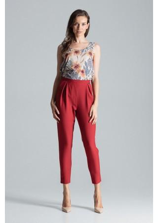 Elegantas bikses ar kabatām sarkanas 135783 Figl Bikses, Legingi, Šorti Greetha