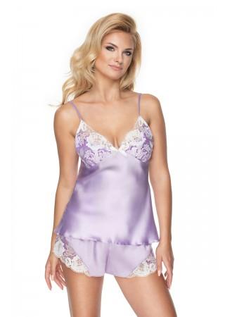 Satīna pidžamas komplekts gaiši violets 137842 Irall Sexy Lingerie, Erotic Underwear Greetha