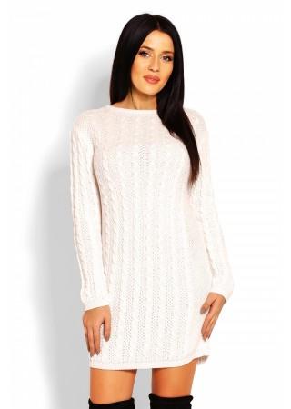 Adīta kleita ecru balta 123434 PeeKaBoo Kleitas Greetha