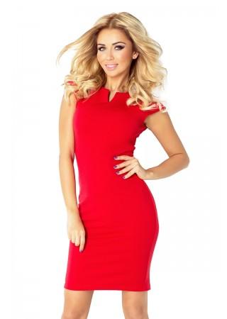Klasiska kleita spilgti sarkana Numoco Kleitas Greetha