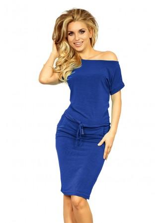 Sportiska stila kleitiņa rudzupuķu zila 139-3 Numoco Kleitas Greetha